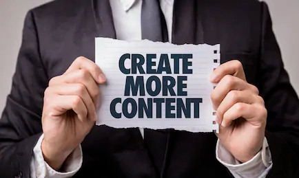 increase your sales by creating more content
