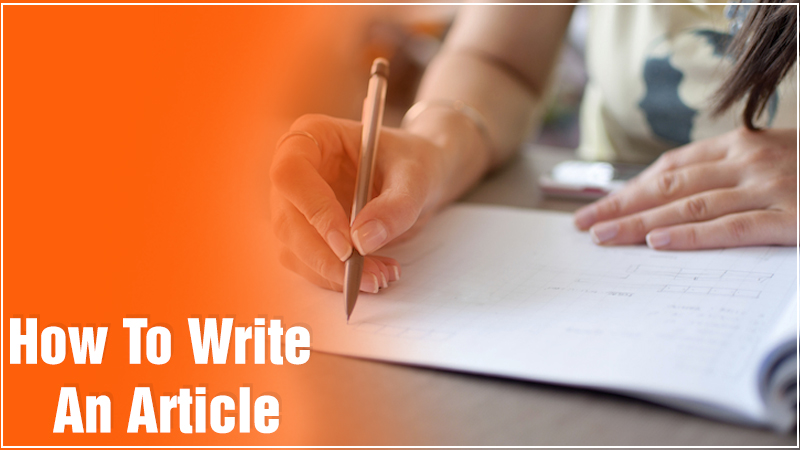 how to writer an article